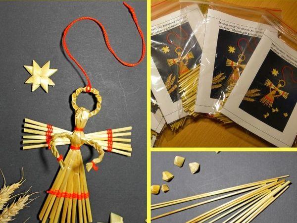 Мастерим ангелочка из соломки | Ярмарка Мастеров - ручная работа, handmade