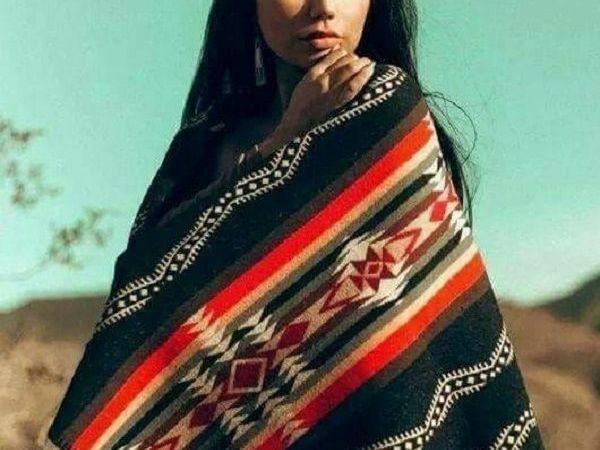 -10% от стоимости ! Теплые и очень уютные плед-палантины серии  «Индейские племена»    Ярмарка Мастеров - ручная работа, handmade
