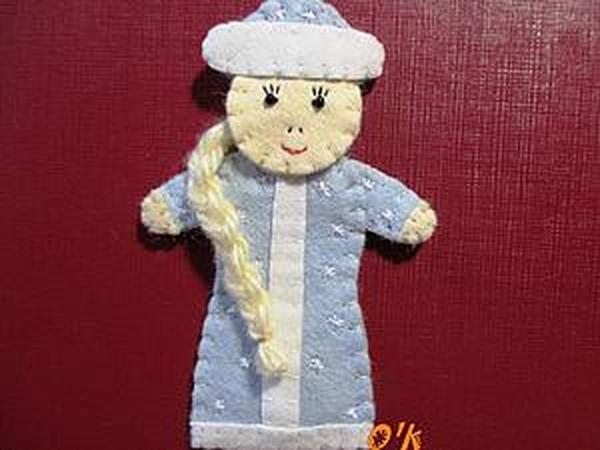 Делаем снегурочку для пальчикового театра | Ярмарка Мастеров - ручная работа, handmade