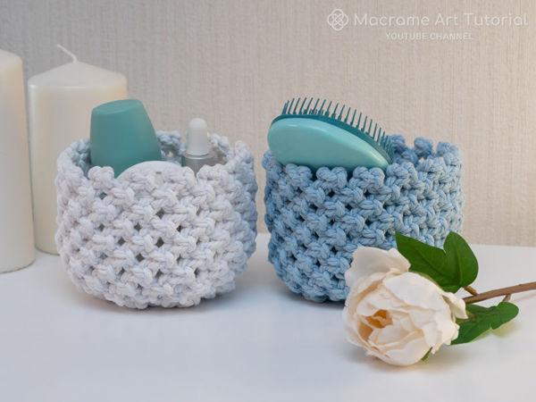 Плетем корзинку в технике макраме | Ярмарка Мастеров - ручная работа, handmade