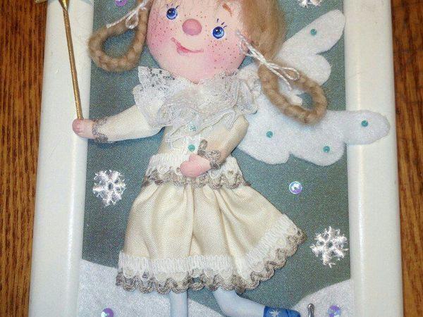 Создаем интерьерную куклу-панно «Рождественский ангел» | Ярмарка Мастеров - ручная работа, handmade