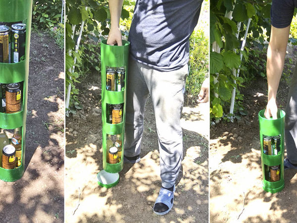 How to Make False Compartment for Drinks in Garden | Livemaster - handmade