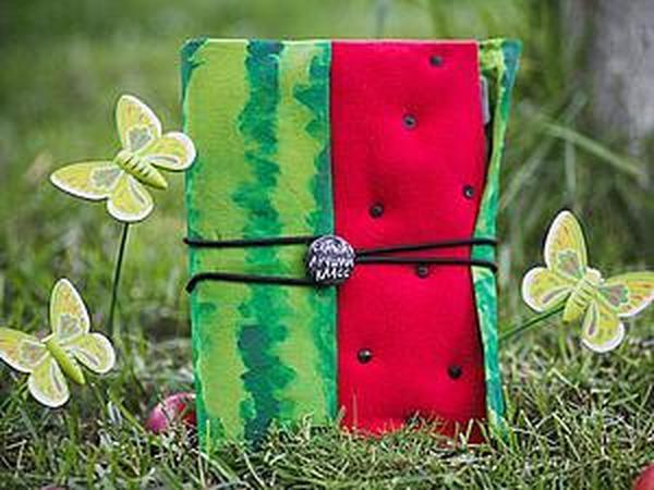 Практичный арбузик: делаем блокнот к школе | Ярмарка Мастеров - ручная работа, handmade