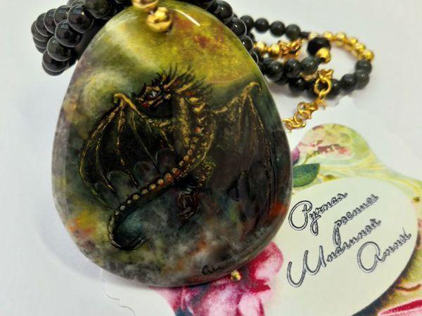 Знакомьтесь – ЛОКИАНА – дарительца  радости – Новое фэнтази украшение / кулон с драконом | Ярмарка Мастеров - ручная работа, handmade