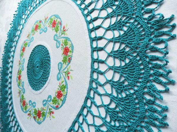 Круглая скатерть по цене первого дня | Ярмарка Мастеров - ручная работа, handmade