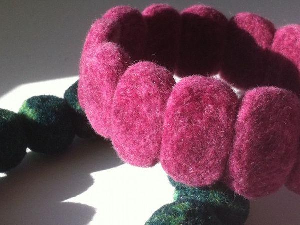 МК-тестирование мериноса:  «Браслет-рулет» | Ярмарка Мастеров - ручная работа, handmade