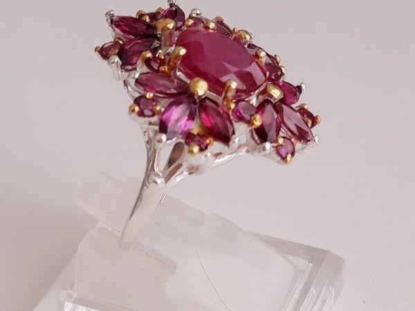 Кольцо с натуральным рубином  «Медея» | Ярмарка Мастеров - ручная работа, handmade