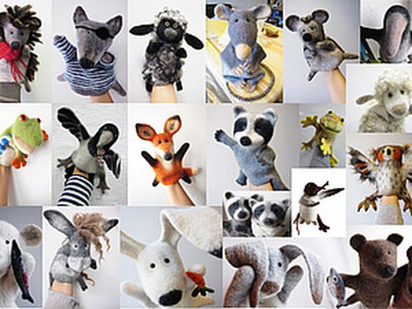 Делаем игрушки-бибабо: зверей и птиц на руку! | Ярмарка Мастеров - ручная работа, handmade