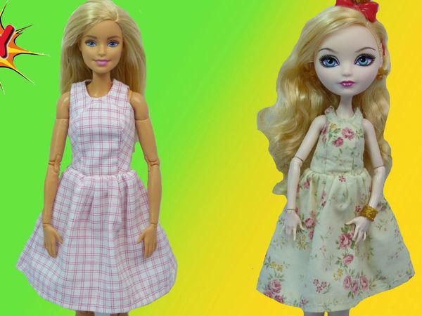 Видеоурок: как сшить платье без рукавов для Барби и Эппл Вайт   Ярмарка Мастеров - ручная работа, handmade