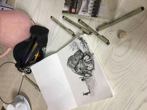 Inktober, день восемнадцатый   Ярмарка Мастеров - ручная работа, handmade