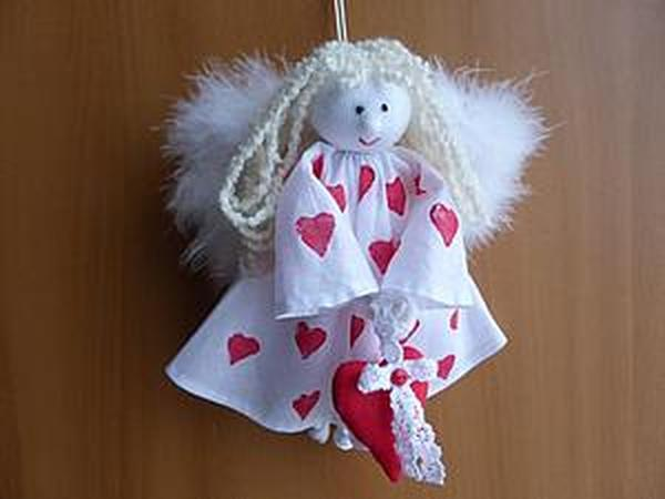 Шьём ангела ко Дню святого Валентина | Ярмарка Мастеров - ручная работа, handmade