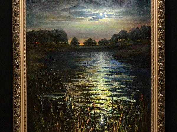 Картина на холсте  «Лунная Ночь» | Ярмарка Мастеров - ручная работа, handmade