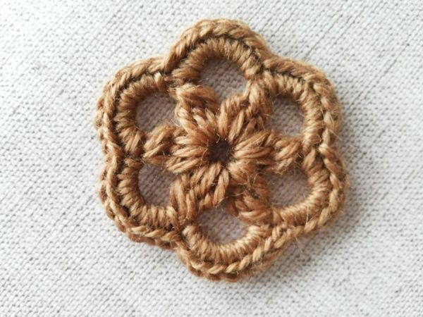 Вяжем цветок крючком | Ярмарка Мастеров - ручная работа, handmade