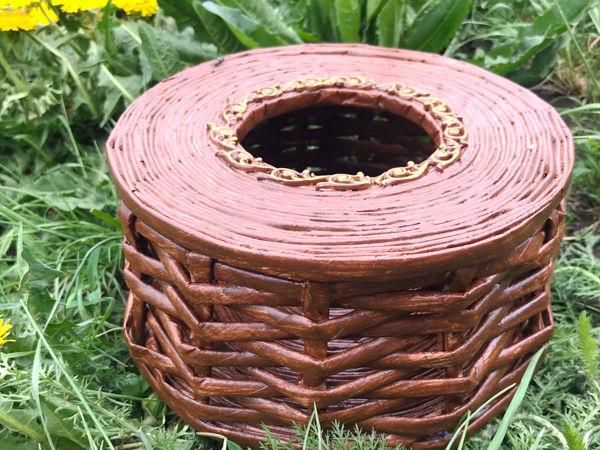 Мастерим плетеную корзинку из газетных трубочек | Ярмарка Мастеров - ручная работа, handmade