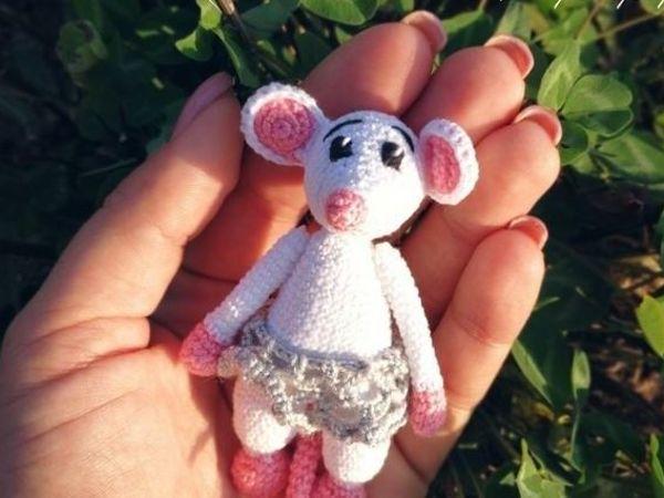 Вяжем милую мышку | Ярмарка Мастеров - ручная работа, handmade