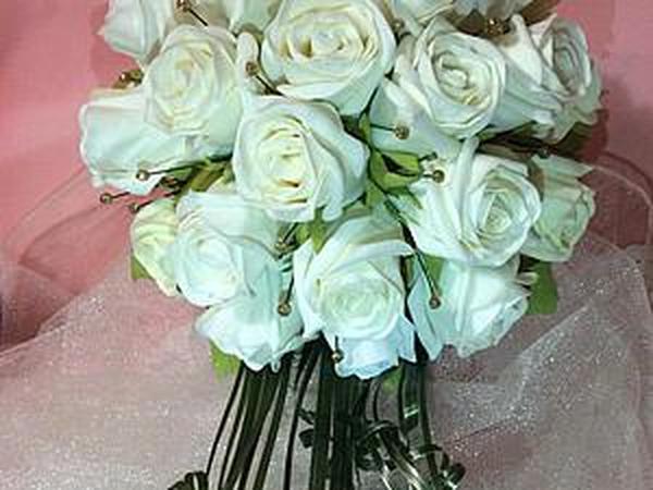 Создаем закрытые розы из фоамирана для свадебного букета | Ярмарка Мастеров - ручная работа, handmade