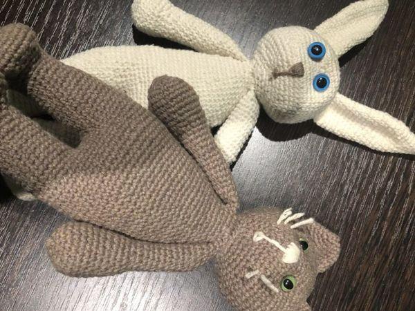 Вяжем крючком зайку и котика амигуруми. Одна схема — две игрушки | Ярмарка Мастеров - ручная работа, handmade