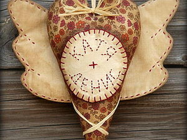 Именное сердечко с крылышками в винтажном стиле   Ярмарка Мастеров - ручная работа, handmade