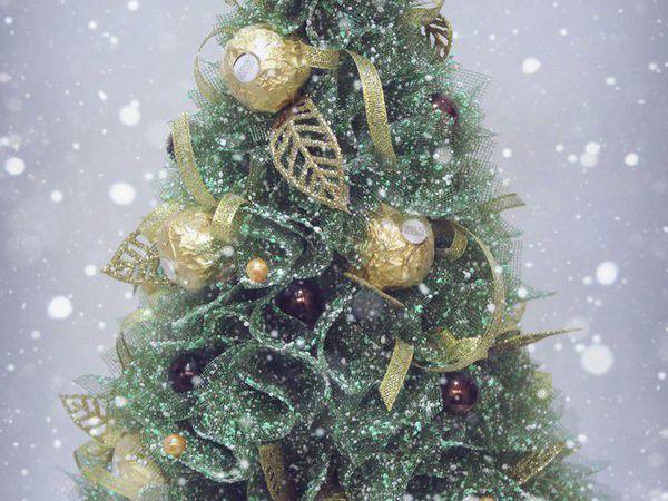 Мастерим новогоднюю ёлочку с конфетами | Ярмарка Мастеров - ручная работа, handmade
