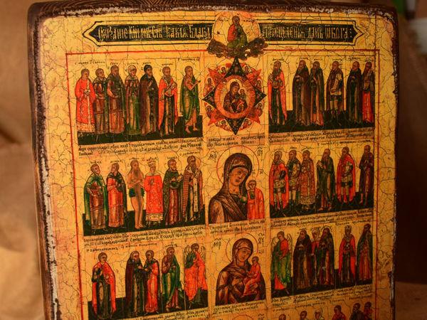 Икона «Сказание, каким святым какие благодати исцеления даны от Бога» | Ярмарка Мастеров - ручная работа, handmade