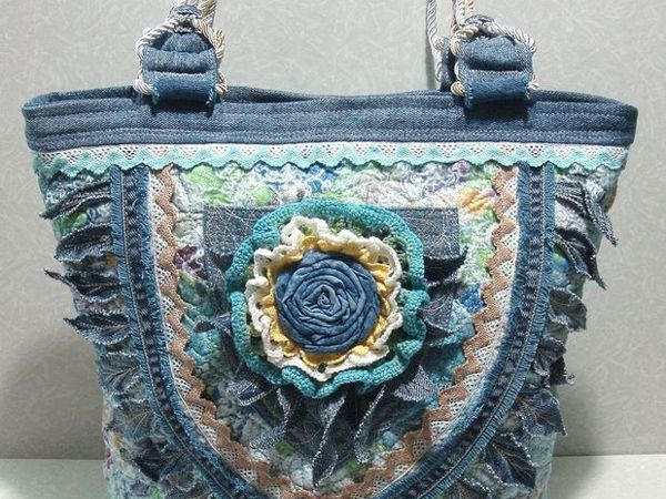 Текстильная сумка в стиле бохо   Ярмарка Мастеров - ручная работа, handmade