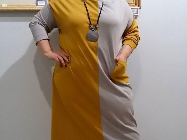 Платье шахматка трикотажное | Ярмарка Мастеров - ручная работа, handmade