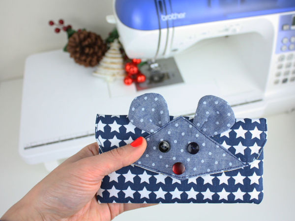 Sew Purse In Shape Of Mouse   Livemaster - handmade