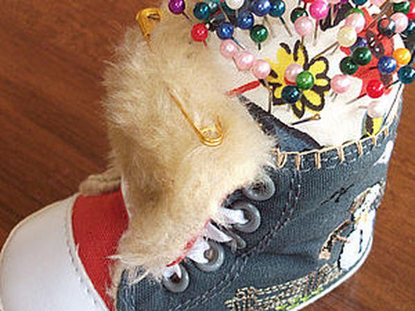Игольница из детского ботинка | Ярмарка Мастеров - ручная работа, handmade