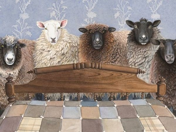 Раз овечка два овечка Или немного позитива | Ярмарка Мастеров - ручная работа, handmade