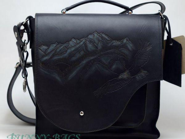 Горы...орел..Кавказ..Мужская сумка.   Ярмарка Мастеров - ручная работа, handmade