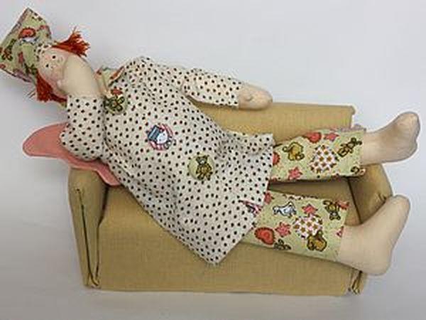 Диван из картона для кукол | Ярмарка Мастеров - ручная работа, handmade