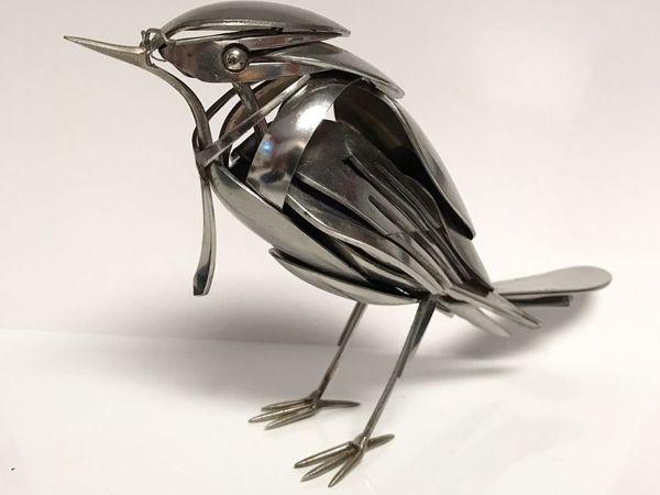 Американец Matt Wilson гнёт невероятные скульптуры из вилок и ножей | Ярмарка Мастеров - ручная работа, handmade