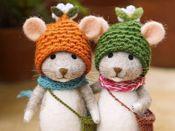 Mouse Stories: Adorable Felted Toys By Little Wool Tails   Livemaster - handmade