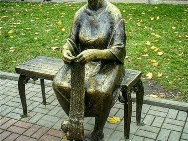 Памятник вязальщицы | Ярмарка Мастеров - ручная работа, handmade