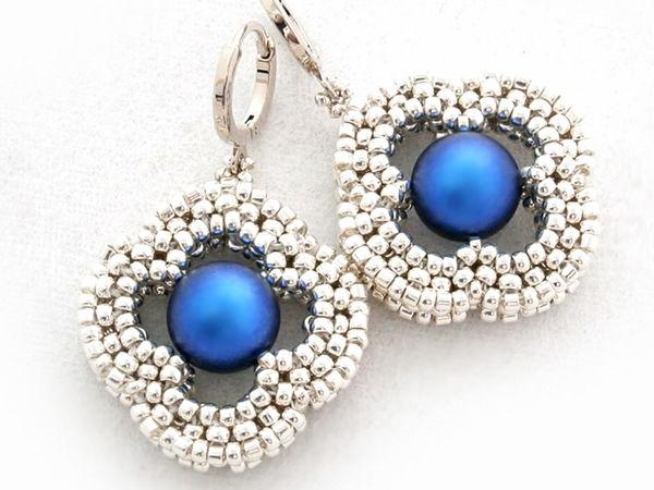 Creating Stylish ''Nina'' Earrings of Beads | Livemaster - handmade