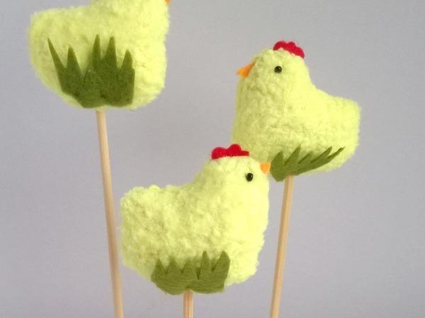 Делаем цыпляток для украшения пасхальных куличей   Ярмарка Мастеров - ручная работа, handmade