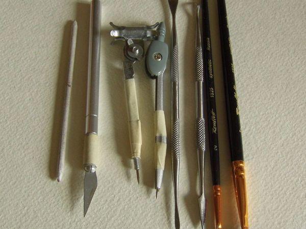 Общий обзор техники гравирования по полимерной глине | Ярмарка Мастеров - ручная работа, handmade