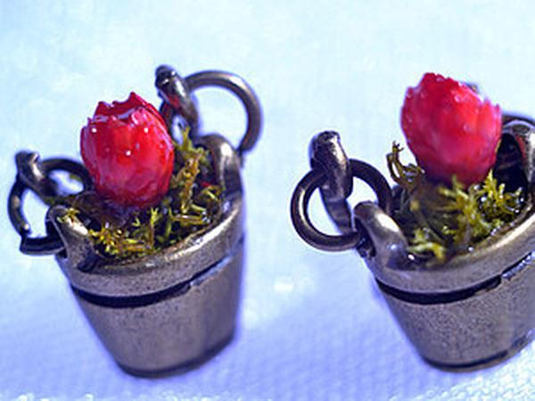 Создаем серьги с сухоцветами  «Ведёрко»   Ярмарка Мастеров - ручная работа, handmade