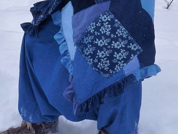 Шьем теплую юбку-одеяло из лоскутков | Ярмарка Мастеров - ручная работа, handmade