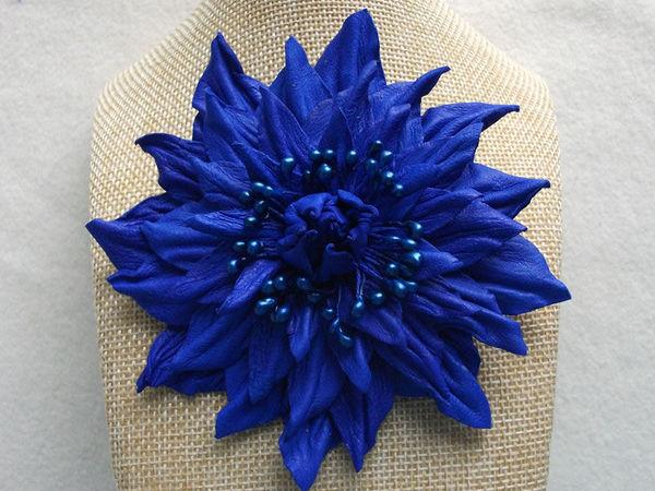 Делаем яркий махровый цветок из кожи | Ярмарка Мастеров - ручная работа, handmade
