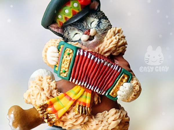 Видео мастер-класс: лепим из полимерной глины фигурку «Кот на Масленице» | Ярмарка Мастеров - ручная работа, handmade