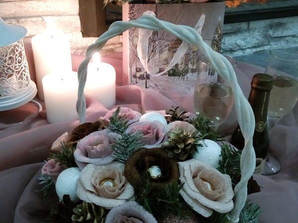 Новогодняя композиция в паре | Ярмарка Мастеров - ручная работа, handmade