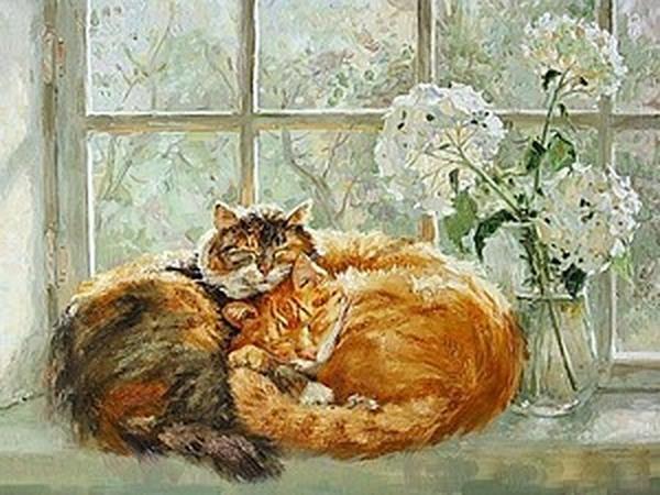 Кошки в искусстве. Солнечность Марии Павловой. | Ярмарка Мастеров - ручная работа, handmade