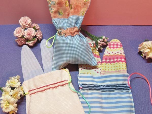 Как сшить пасхальный мешочек с ушками | Ярмарка Мастеров - ручная работа, handmade