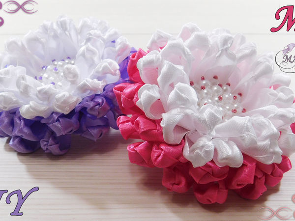 Делаем резинки с цветами для волос | Ярмарка Мастеров - ручная работа, handmade
