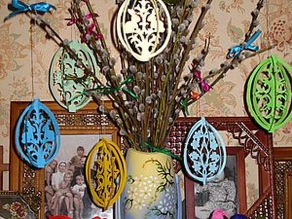 Создаем пасхальное дерево с ажурными яйцами | Ярмарка Мастеров - ручная работа, handmade