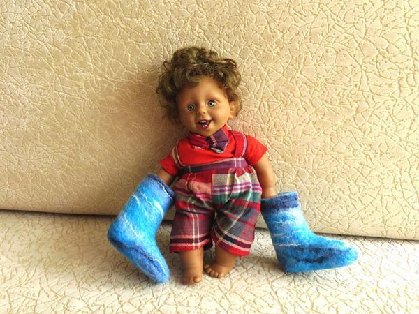Как свалять валенки для куклы | Ярмарка Мастеров - ручная работа, handmade