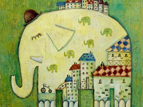 Пока спят слоны   Ярмарка Мастеров - ручная работа, handmade