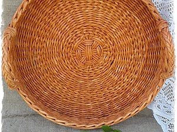 Плетем красивое круглое донышко из бумажной лозы | Ярмарка Мастеров - ручная работа, handmade