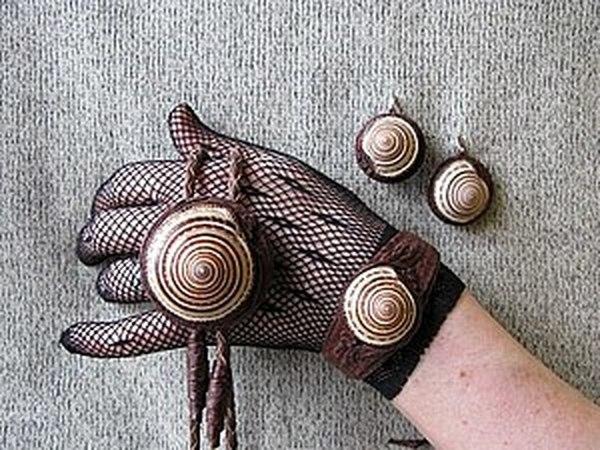 Работа с натуральной кожей: браслет   Ярмарка Мастеров - ручная работа, handmade